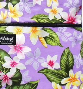 Tote Bag Zipper L – New Plumeria Lavender