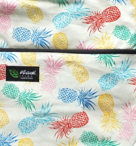 Tote Bag Zipper L – Pineapple Paradise Beige
