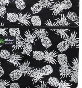 Tote Bag Zipper L – Pineapple Paradise Black