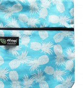 Tote Bag Zipper L – Pineapple Paradise Blue