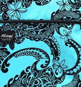 Tote Bag Zipper L – Tribal Tattoo Blue