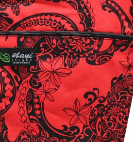 Tote Bag Zipper L – Tribal Tattoo Red