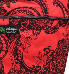 Tote Bag Zipper L – Tribal Tattoo Red