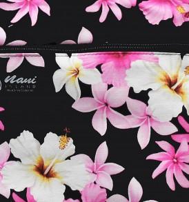 Tote Bag Zipper M – Dream of Flower Black