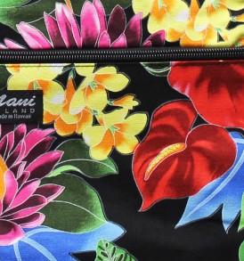 Tote Bag Zipper M – Hawaiian Garden Black