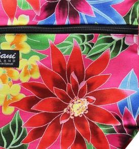 Tote Bag Zipper M – Hawaiian Garden Pink