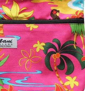 Tote Bag Zipper M – Hawaiian Hula Girl Pink