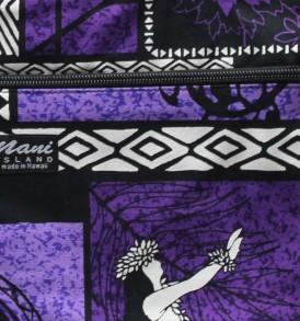 Tote Bag Zipper M – Honu Box Purple
