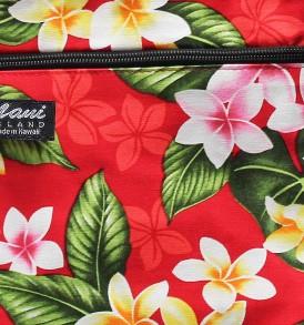 Tote Bag Zipper M – New Plumeria Red