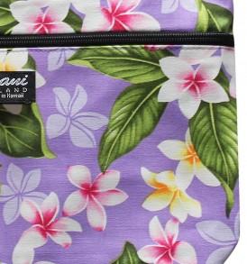Tote Bag Zipper M – New Plumeria Purple