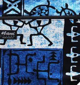 Tote Bag Zipper M – Stickman Blue