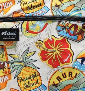 Tote Bag Zipper M – Aloha Tag Beige
