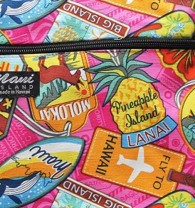 Tote Bag Zipper M – Aloha Tag Pink