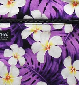 Tote Bag Zipper M – Modern Plumeria Purple