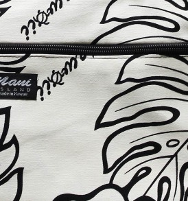 Tote Bag Zipper M – Monstera Lover Cream