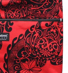 Tote Bag Zipper M – Tribal Tattoo Red