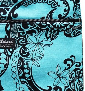 Tote Bag Zipper M – Tribal Tattoo Blue