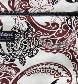 Tote Bag Zipper M – Tribal Tattoo Cream