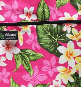 Tote Bag Zipper L – New Plumeria Pink
