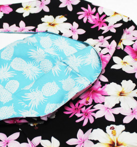 Reversible Sling Bag – Dream of Flower Black