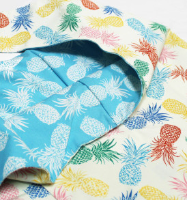 Reversible Sling Bag – Pineapple Paradise Beige
