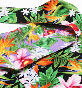 Reversible Sling Bag – Tropical Blossom Black