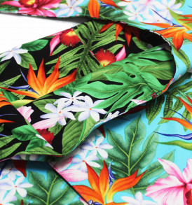 Reversible Sling Bag – Tropical Blossom Turq